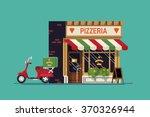 lovely flat design italian food ... | Shutterstock .eps vector #370326944