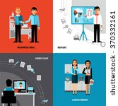 business office concept 4 flat... | Shutterstock .eps vector #370332161