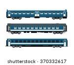 railway passenger cars | Shutterstock .eps vector #370332617