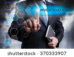 businessman pressing button on... | Shutterstock . vector #370333907