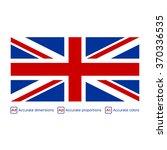 flag of the united kingdom  ... | Shutterstock .eps vector #370336535