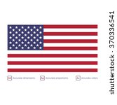 flag of the united states  ... | Shutterstock .eps vector #370336541