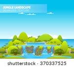 beautiful jungle landscape.... | Shutterstock .eps vector #370337525