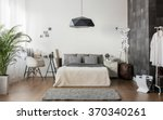 interior of white and gray cozy ... | Shutterstock . vector #370340261