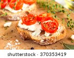 delicious bruschetta with... | Shutterstock . vector #370353419