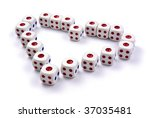 dice in love shape | Shutterstock . vector #37035481