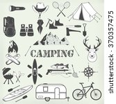 set of camping equipment... | Shutterstock . vector #370357475