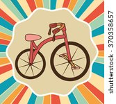 ride a bike  | Shutterstock .eps vector #370358657