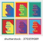 vector illustration  set of six ... | Shutterstock .eps vector #370359089
