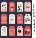vector valentine's cards... | Shutterstock .eps vector #370359575