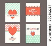 vector set of simple and cute... | Shutterstock .eps vector #370362287