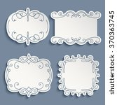 set of vector labels  cutout... | Shutterstock .eps vector #370363745