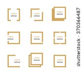 collection of geometric frames... | Shutterstock .eps vector #370366487