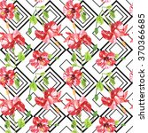seamless pattern with red... | Shutterstock . vector #370366685