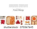 allergy food on white... | Shutterstock . vector #370367645