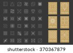 collection of 36 icon 6 stylish ... | Shutterstock .eps vector #370367879