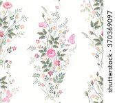 seamless floral pattern with... | Shutterstock .eps vector #370369097