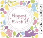 easter greeting card. vector... | Shutterstock .eps vector #370374527