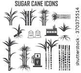 sugar cane icons vector. | Shutterstock .eps vector #370375514