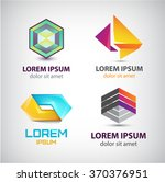 vector set of abstract shapes ... | Shutterstock .eps vector #370376951