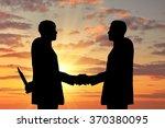 concept of business betrayal.... | Shutterstock . vector #370380095