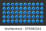 big set of fifty vector button ...