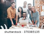 perfect creative team. group of ... | Shutterstock . vector #370385135