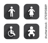 wc toilet icons. human male or... | Shutterstock .eps vector #370393889