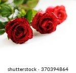 Valentine Roses Over White...