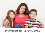 happy family. mother woman and... | Shutterstock . vector #370401989