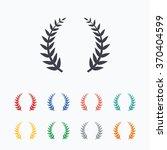 laurel wreath sign icon.... | Shutterstock .eps vector #370404599