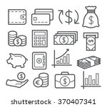 money line icons | Shutterstock . vector #370407341
