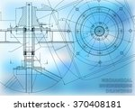 mechanical engineering drawings.... | Shutterstock .eps vector #370408181