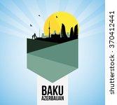 baku landmarks   icon set for... | Shutterstock .eps vector #370412441