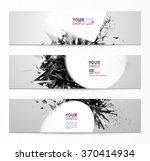 geometric black abstract... | Shutterstock .eps vector #370414934
