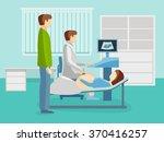 ultrasound examination of... | Shutterstock .eps vector #370416257