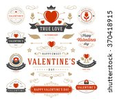 valentine's day labels and... | Shutterstock .eps vector #370418915