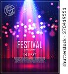 festival poster with spotlight. ... | Shutterstock .eps vector #370419551
