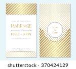 gold wedding invitation  thank... | Shutterstock .eps vector #370424129