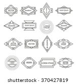 set of line geometric logotypes.... | Shutterstock .eps vector #370427819