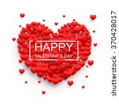 happy valentines day background ... | Shutterstock .eps vector #370428017