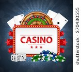 background on a casino theme. ... | Shutterstock .eps vector #370430555
