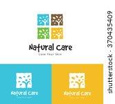 natural care logo vector logo... | Shutterstock .eps vector #370435409