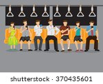 all commuters looking at their... | Shutterstock .eps vector #370435601