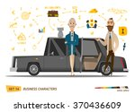 business cartoon characters... | Shutterstock .eps vector #370436609