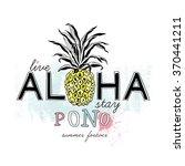 live aloha stay pono  fashion... | Shutterstock .eps vector #370441211