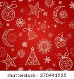 red wallpaper for winter... | Shutterstock . vector #370441535