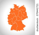 map of germany | Shutterstock .eps vector #370441721