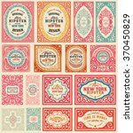 mega set of retro cards. all... | Shutterstock .eps vector #370450829