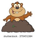happy marmot cartoon character...   Shutterstock . vector #370451384